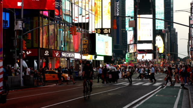 times square street scene - billboard stock videos & royalty-free footage