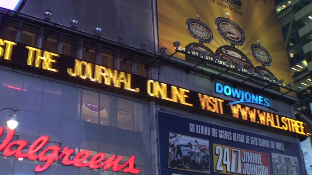 stockvideo's en b-roll-footage met times square ticker new york city times square ticker nyc on january 01 2012 - salmini