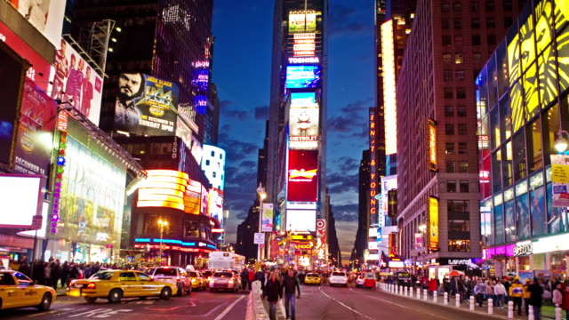 0026 Times Square Zeitraffer im Magic Hour 4 K