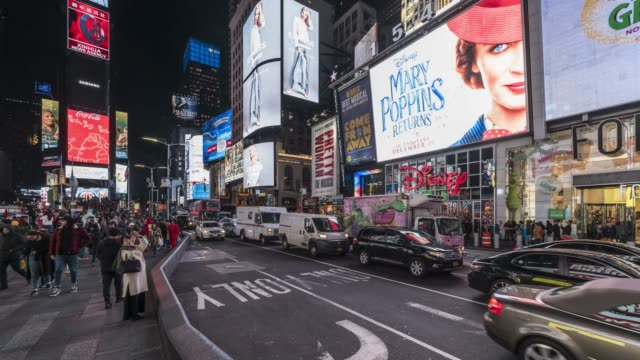 times square time lapse video - new york - video wall stock videos & royalty-free footage