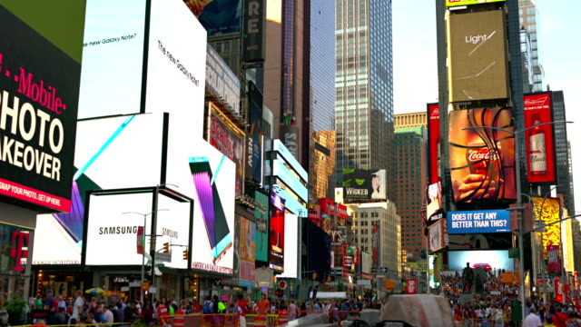 times square traffic at daytime - times square manhattan stock videos & royalty-free footage