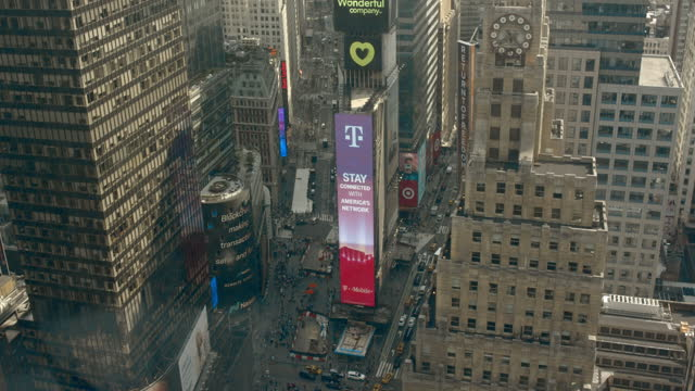 times square - aerial stock videos & royalty-free footage