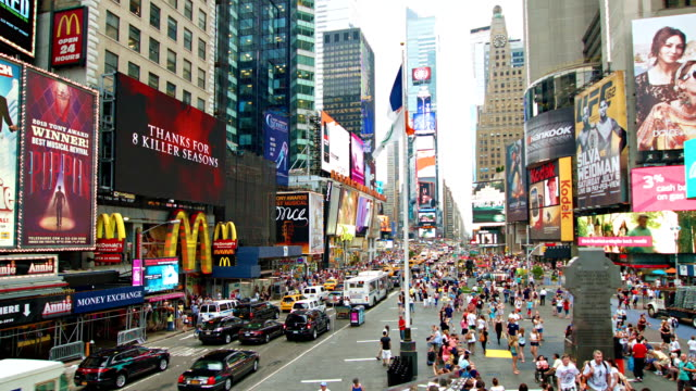 times square - broadway show stock videos and b-roll footage