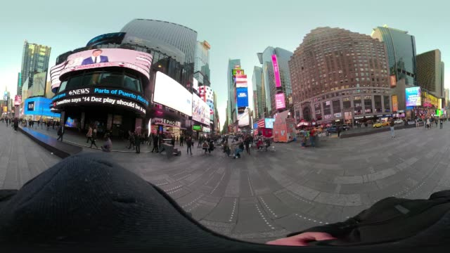 360 VR Times Square POV walking New York City