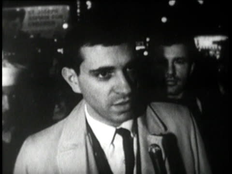 times square zipper sign / people being interviewed on the street - cuban missile crisis stock videos & royalty-free footage