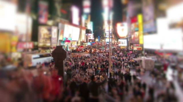times square zoom - times square manhattan stock videos & royalty-free footage