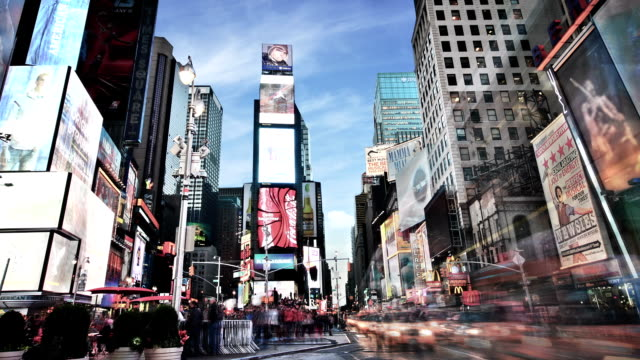 times square,new york - billboard stock videos & royalty-free footage