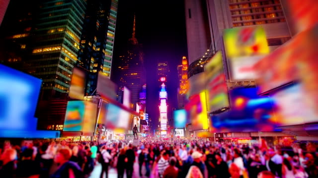 times square.nyc. - tilt shift stock videos and b-roll footage