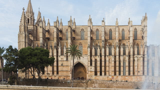 timeslapse of palma de mallorca spain the capital and largest city of the autonomous community of the balearic islands in spain - palma stock videos & royalty-free footage