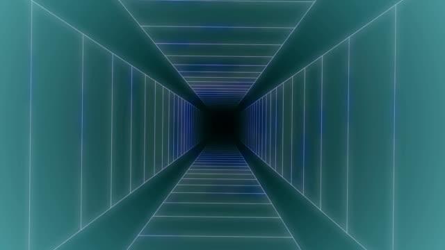 時空間渦トンネル ループ アニメーション - 歪曲点の映像素材/bロール