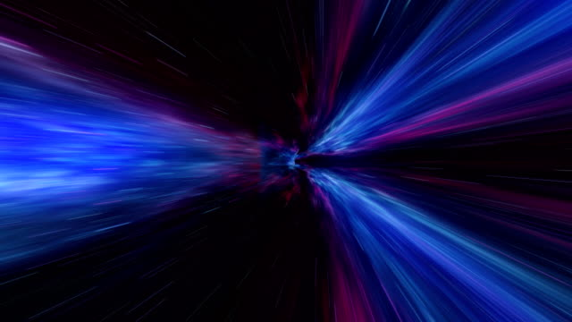 Time-space vortex tunnel loop animation