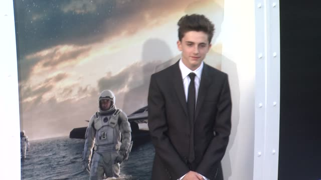 vídeos de stock, filmes e b-roll de timothée chalamet at interstellar los angeles premiere at tcl chinese theatre on october 26 2014 in hollywood california - tcl chinese theatre