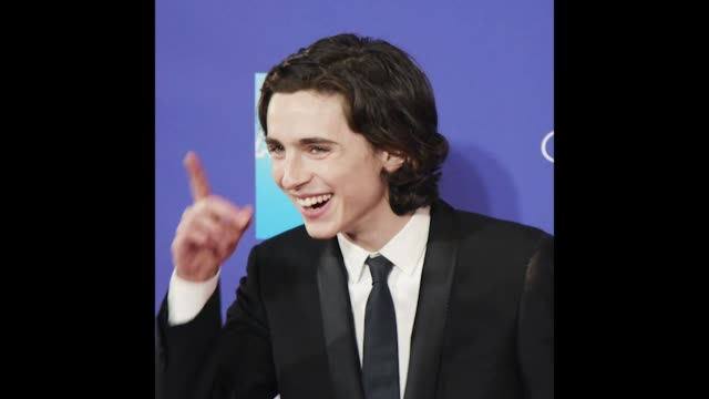 GIF Timothée Chalamet at the 29th Annual Palm Springs International Film Festival Awards Gala