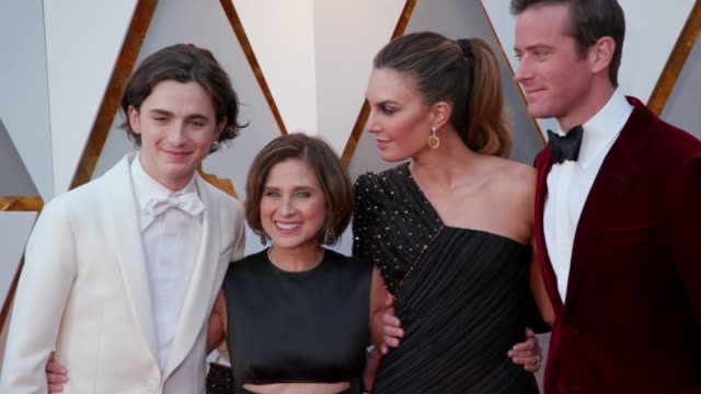 timothée chalamet nicole flender elizabeth chambers and armie hammer at dolby theatre on march 04 2018 in hollywood california - armie hammer stock videos & royalty-free footage