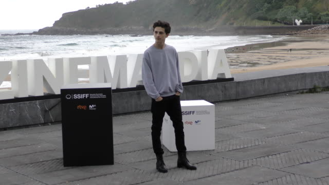 Timothee Chalamet attends the 'Beautiful Boy' photocall during the 66th San Sebastian International Film Festival on September 24 2018 in San...