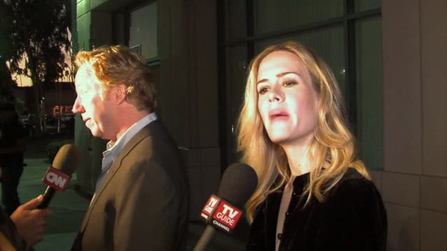 timothy busfield and sarah paulson at the the academy of television arts and sciences presents an evening with studio 60 on the sunset strip at the... - sarah paulson stock videos and b-roll footage