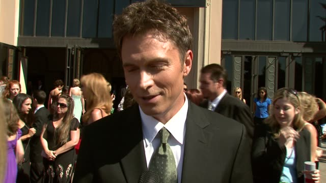 Timothy Daly on being nominated on comedy versus drama on his outfit and watch at the 2007 Creative Arts Emmy Awards at the Shrine Auditorium in Los...
