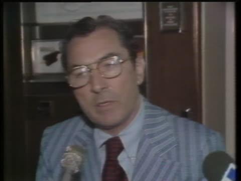 vídeos de stock e filmes b-roll de timothy dowd, new york city police inspector, comments on a son of sam murder investigation. - 1977