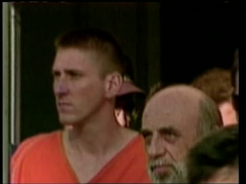 timothy mcveigh, convicted of bombing the federal building in oklahoma city, led along - oklahoma city bombing stock videos & royalty-free footage