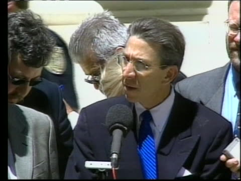 timothy mcveigh's attorney robert nigh holds a press conference concerning mcveigh's appeal. - timothy mcveigh stock videos & royalty-free footage