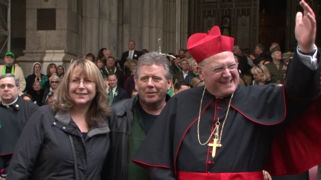 Timothy Michael Dolan CardinalArchbishop of New York before start of the 2012 St Patrick's Day Parade St Patrick's Day Parade at 5th Ave New York...