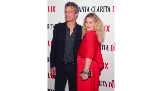 """timothy olyphant and drew barrymore attend netflix's """"santa clarita diet"""" season 2 premiere at the dome at arclight hollywood on march 22, 2018 in... - arclight cinemas hollywood stock videos & royalty-free footage"""
