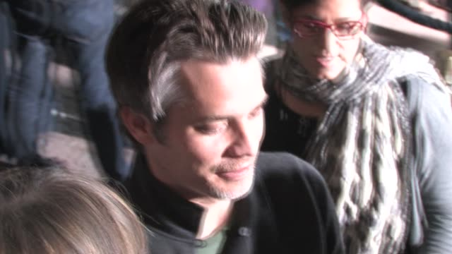 stockvideo's en b-roll-footage met timothy olyphant signs at the rango premiere in west wood at the celebrity sightings in los angeles at los angeles ca - timothy west