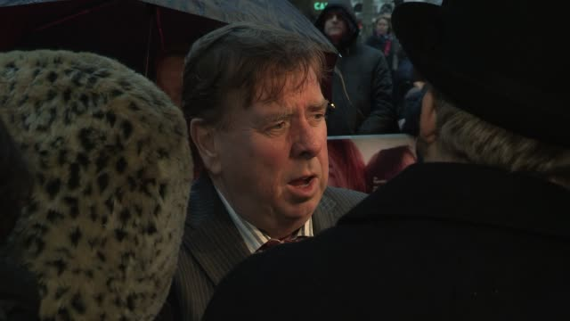 stockvideo's en b-roll-footage met timothy spall at the ginger rosa premiere bfi 56th london film festival 2012 at odeon west end on october 13 2012 in london england - timothy west