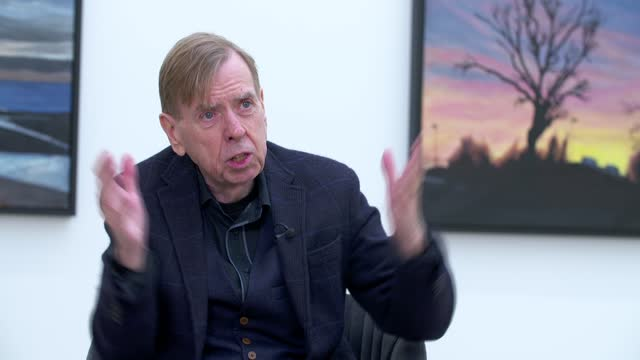 timothy spall interview; part 2 of 4 england: london: pontone gallery: int timothy spall interview sot - on photographing images while out and then... - skill stock videos & royalty-free footage