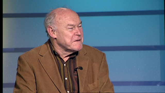 timothy west to star in 'the collection' at the comedy theatre in london england london gir int timothy west live studio interview sot discusses... - harold pinter stock videos and b-roll footage