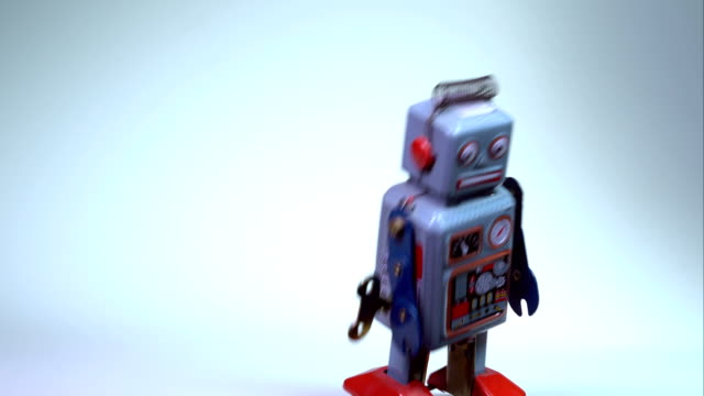 tin toy robots - toy stock videos & royalty-free footage