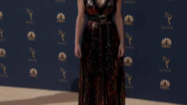 tina fey, actress, writer and producer, on the red carpet for the 2018 emmy awards. - emmy awards stock videos & royalty-free footage