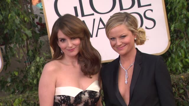 Tina Fey Amy Poehler at 70th Annual Golden Globe Awards Arrivals 1/13/2013 in Beverly Hills CA
