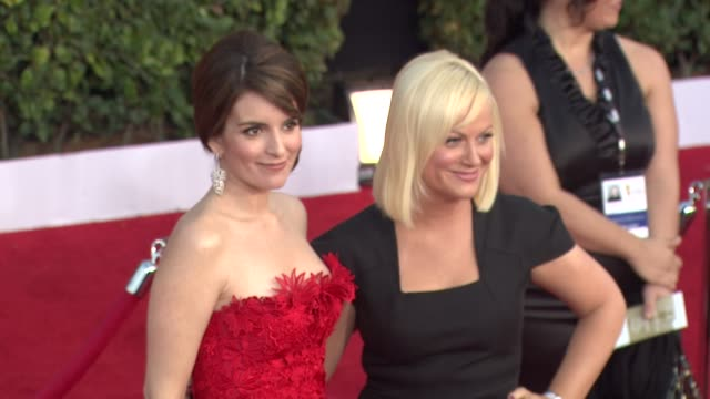 Tina Fey Amy Poehler at the 17th Annual Screen Actors Guild Awards Arrivals Part 2 at Los Angeles CA