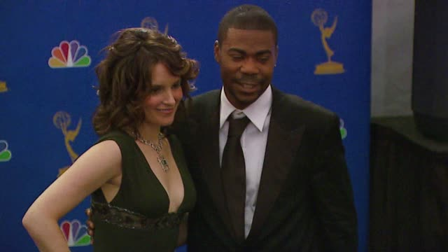 Tina Fey and Tracy Morgan presenters at the 2006 Emmy Awards press room at the Shrine Auditorium in Los Angeles California on August 27 2006