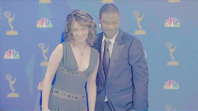 tina fey and tracy morgan, presenters at the 2006 emmy awards press room at the shrine auditorium in los angeles, california on august 27, 2006. - shrine auditorium stock-videos und b-roll-filmmaterial