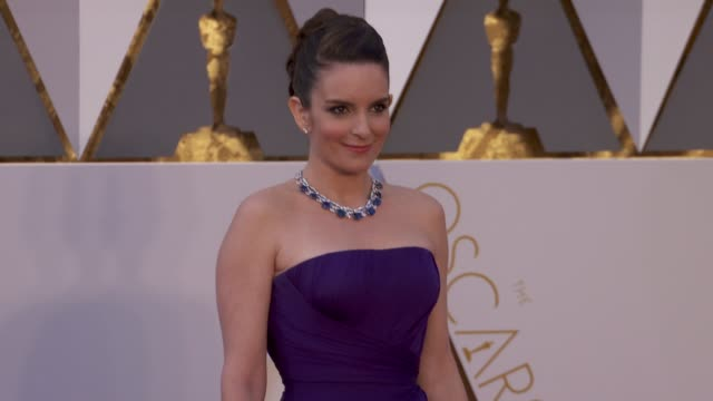 Tina Fey at 88th Annual Academy Awards Arrivals at Hollywood Highland Center on February 28 2016 in Hollywood California 4K