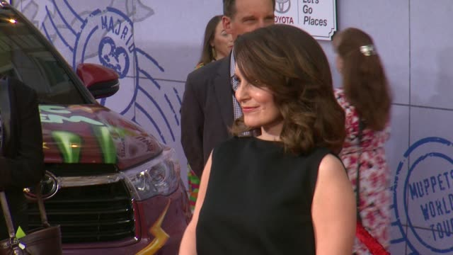 Tina Fey at Disney's Muppets Most Wanted Los Angeles Premiere at the El Capitan Theatre on March 11 2014 in Hollywood California