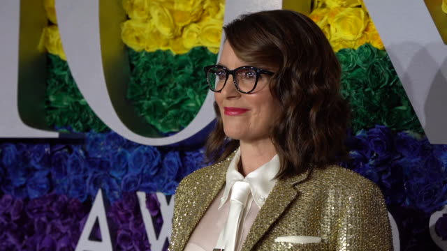 tina fey at radio city music hall on june 09, 2019 in new york city. - annual tony awards stock videos & royalty-free footage