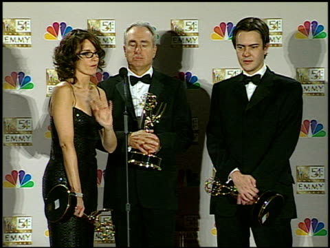 Tina Fey at the 2002 Emmy Awards Press Room at the Shrine Auditorium in Los Angeles California on September 22 2002