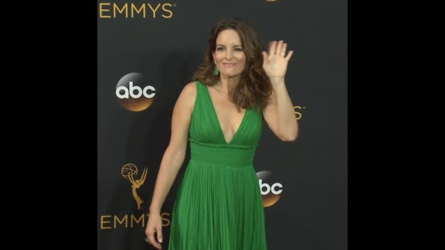 tina fey at the 68th annual primetime emmy awards - annual primetime emmy awards stock-videos und b-roll-filmmaterial