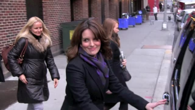 Tina Fey at the 'Late Show with David Letterman' studio in New York on 1/5/2012