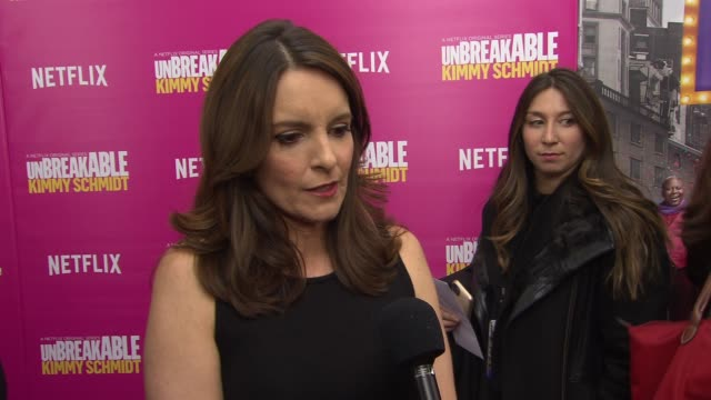 INTERVIEW Tina Fey discusses the upcoming season of Unbreakable Kimmy Schmidt She says that it's even funnier than the last season She says what a...