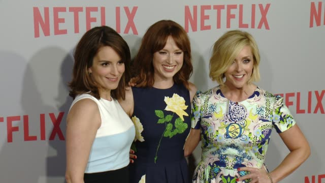 Tina Fey Ellie Kemper and Jane Krakowski at Netflix's Series Unbreakable Kimmy Schmidt QA Screening Event at Pacific Design Center on June 07 2015 in...
