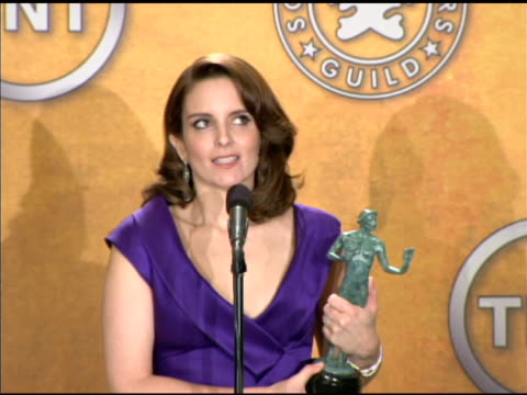 tina fey on her bucket list at the 16th annual screen actors guild awards - press room at los angeles ca. - bucket list stock videos & royalty-free footage