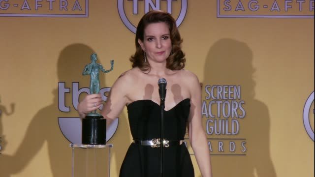 SPEECH Tina Fey on her heels at 19th Annual Screen Actors Guild Awards Press Room 1/27/2013 in Los Angeles CA