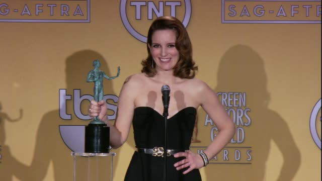 SPEECH Tina Fey on how she feels about the award at 19th Annual Screen Actors Guild Awards Press Room 1/27/2013 in Los Angeles CA