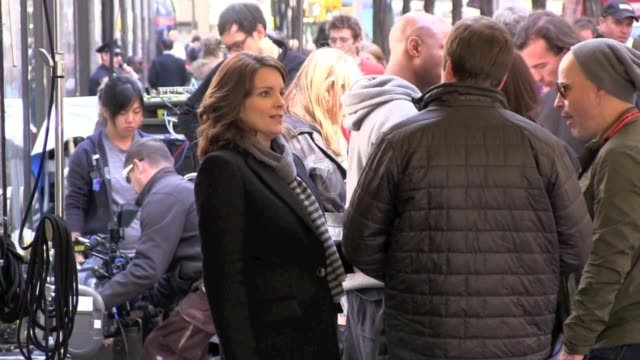 Tina Fey on location for '30 Rock' in New York on
