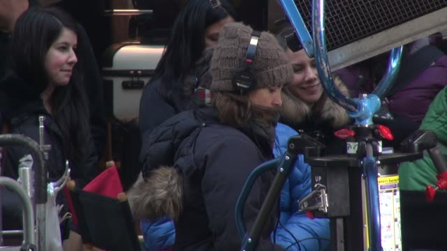 Tina Fey on the set of her new untitled show in Rockefeller Center in Celebrity Sightings in New York