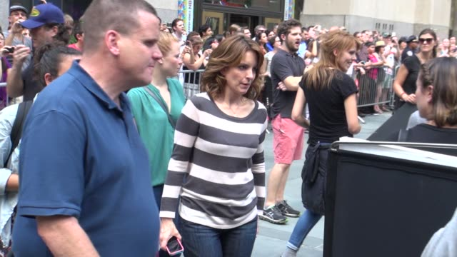 Tina Fey outside NBC Studios Tina Fey outside NBC Studios on August 28 2012 in New York New York